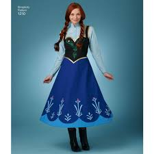 frozen costumes pattern for disney frozen costumes for misses simplicity