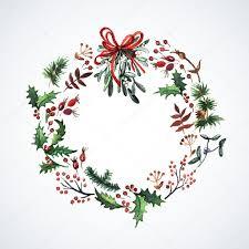 christmas plants wreath with christmas plants stock vector 55711999
