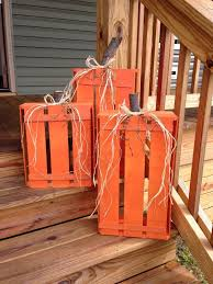 Pinterest Fall Decorations For The Home Diy Wood Crate Pumpkins What A Fall Decoration