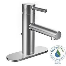 moen align single hole 1 handle bathroom faucet in chrome 6190