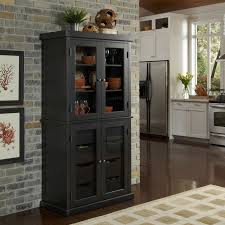 pantry cabinet pantry cabinet storage with retro black wooden low