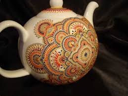 amazing painting ideas turning ceramic tea pots and mugs into