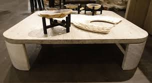 reclaimed elm and stone square coffee table mecox gardens