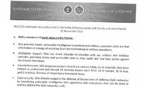 nsa s thanksgiving memo wants employees to highlight work the
