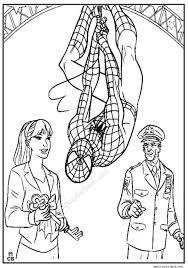 spiderman hero printable free print pages 01