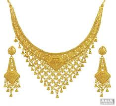 yellow necklace set images Yellow gold filigree necklace set ajns53827 22kt gold filigree jpg