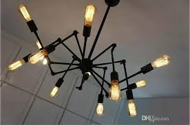 12 Bulb Chandelier Discount New Spider Chandelier Vintage Wrought Iron Pendant Lamp