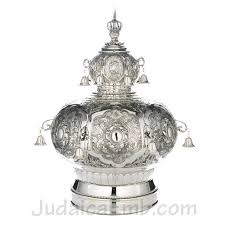 silver plated torah crowns torah crown cr9685b