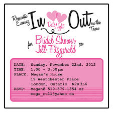 bridal shower invitation date night theme 25 50 00 via etsy