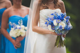 Blue Wedding Bouquets Cornflower Blue And White Wedding Flowers Floral Designed By