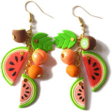 food earrings polymer clay food earrings fruity jewelry banana earrings
