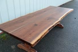 trestle base dining table live edge walnut dining table with trestle base corey morgan