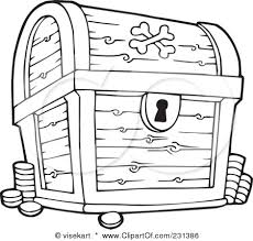 pirates treasure chest coloring pages wee folk