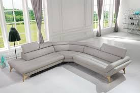 Top Grain Leather Sectional Sofa Furniture Grey Leather Sectional Sectional Sofa Gray Gray