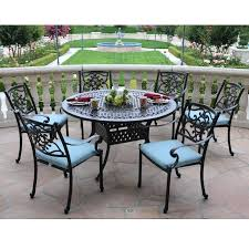 Patio Dining Sets Walmart Patio Dining Sets Cast Aluminum 7 Set With Table Patio