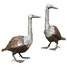 gorgeous goose garden ornaments metal garden geese