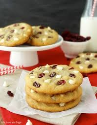 cranberry white chocolate chip cookies and sugar