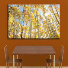 popular aspen wall art buy cheap aspen wall art lots from china hdartisan home decor wall painting for living room canvas art aspen grove la sal mountains landscape