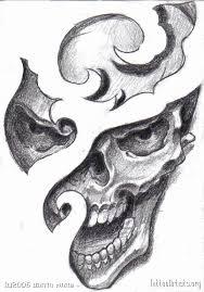 skull design drawing artists org