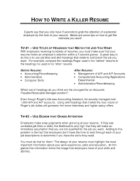 Accounts Payable Job Description Resume by How To Make A Killer Resume Free Resume Example And Writing Download