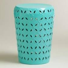 teal accent table drum accent table foter