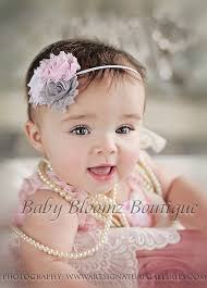 baby girl hair bands baby headband baby girl headband gray shabby headband