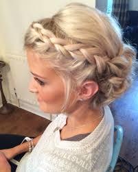 bridesmaid hairstyles for medium length hair wedding hair priory cottages bridal updo plait plaits braid braids