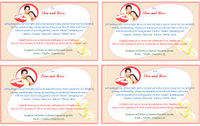 exles of wedding reception programs exle marriage invitation email to colleagues style by