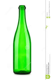 champagne transparent empty bottle of champagne isolated royalty free stock photography