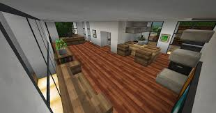 living room mod minecraft with reddish wooden laminate flooring idea living room minecraft brown long sofa with table grey