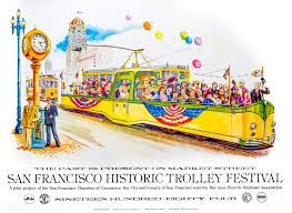 San Francisco Tram Map by Posters Market Street Railway