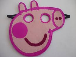 felt peppa pig mask toy dress up costume for by mummyhughesy