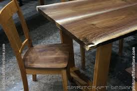Black Walnut Dining Chairs Custom Solid Hardwood Table Tops Live Edge Slabs