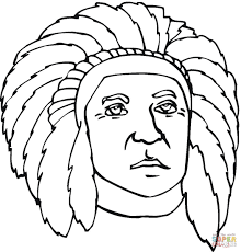 first nation indian coloring page free printable coloring pages