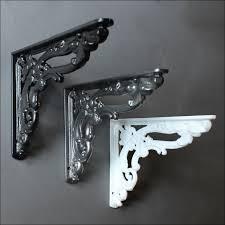 furniture fabulous ornamental iron corbels 12 metal shelf