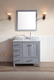 Wood Bathroom Vanity by Ariel Cambridge A037s R Gry 37