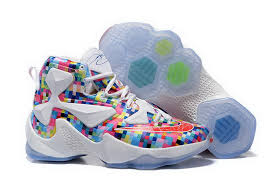 fashion lebron 13 prism multi color cool basketball shoes sale in