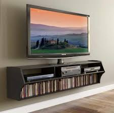 cool narrow wall mounted tv stand with horizontal dvd shelf and