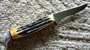 xx usa 1 dot 1979 bradford centennial stag 5finn ssp fixed blade