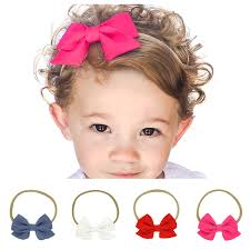 bow headbands baby bow headbands cotton hairband polka dot grid headbands