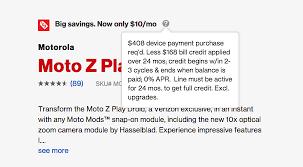 best black friday motorola deals deal moto z play at verizon is just 10 per month droid life