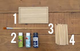coffee stirrer diy wall makeanddocrew