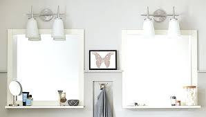 Bathroom Mirror And Shelf Impressive Mirror With Shelf Bathroom Diy Bathroom Mirror Shelf