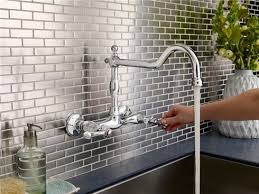 delta wall mount kitchen faucet plus single handle pull down