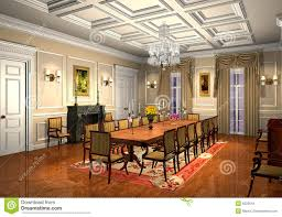 Classic Dining Room 3d Classic Dining Room Stock Illustration Illustration Of Indoor