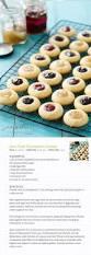 jam filled thumbprint cookies yummy treats pinterest