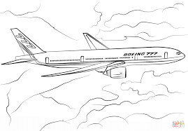 boeing 777 200 coloring page free printable coloring pages