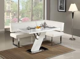 Modern White Dining Room Set by Comfortable Corner White Dining Table Set Orchidlagoon Com