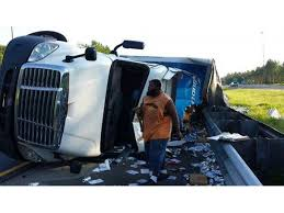 Beer Cans Litter I 75 After Bud Light Truck Crashes Land O Lakes