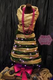 Lighted Christmas Tree Skirt Dress Form Christmas Tree Shabby Paints